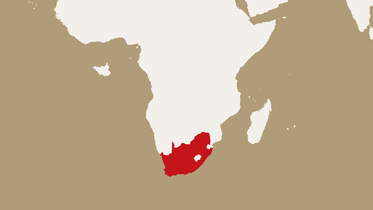 map highlighting South Africa
