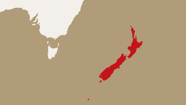 map highlighting New Zealand