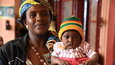 Yasmine (4 months) received glaucoma treatment from a CBM partner eye hospital
