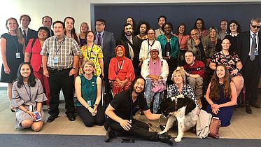 group photo of the stakeholder group of persons with disabilities
