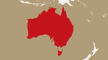map highlighting Australia