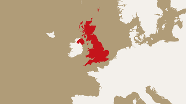 map highlighting the United Kingdom