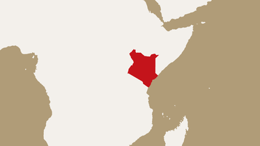 map highlighting Kenya